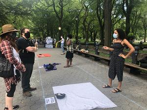The Living Mural Brings Live Theater To Central Park