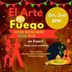 Unlimited Stages and Reaction Dance Company NYC To Present A Virtual Hispanic Heritage Month Variety Show