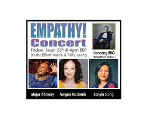 Megan McGinnis, Major Attaway And Telly Leung To Perform In Empathy Concert Honoring RBG