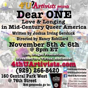 DEAR ONE: LOVE & LONGING IN MID-CENTURY QUEER AMERICA Comes To UWS Church