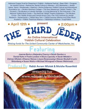 Experience An All-Star Third Seder –  An Online International Yiddish Cultural Celebration