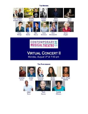 Jonathan Burke, Arielle Jacobs, Thom Sesma, and More Set For ContemporaryMusicalTheatre.com's Second Virtual Concert