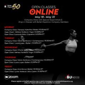 Ballet Hispánico Open Classes Online Through June 5
