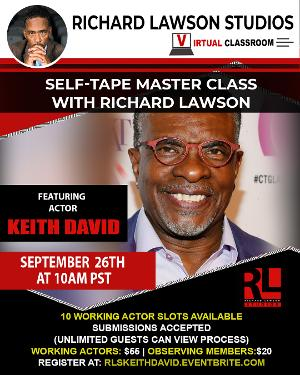 The Richard Lawson Studios Master Class Closes Out September With Veteran Actor Keith David