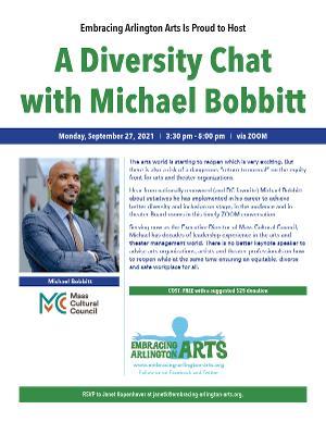 Embracing Arlington Arts to Host Virtual Diversity Chat With Michael Bobbitt