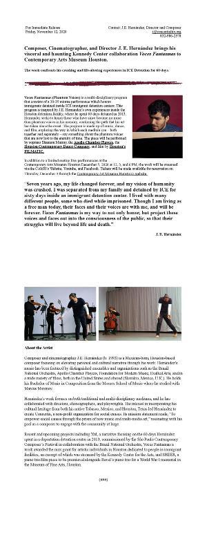 J.E. Hernandez Brings VOCES FANTASMAS To Contemporary Arts Museum Houston
