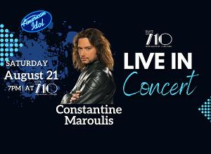 Constantine Maroulis To Perform In Hagerstown MD This August