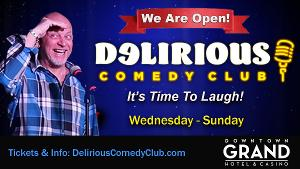 Delirious Comedy Club Continues to Bring Live Comedy to Las Vegas While Working Within Nevada Restrictions