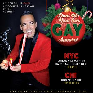 Holigay Comedy! DOM WE NOW OUR GAY APPAREL Featuring Dominick Pupa At The Duplex