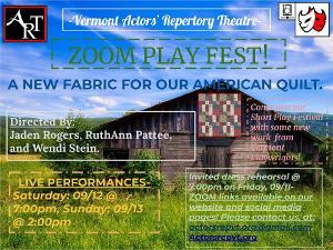 Vermont Actors' Repertory Theatre Presents A: ZOOM PLAY FEST