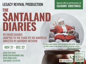 Diversionary Theatre Presents SANTALAND DIARIES this Holiday Season