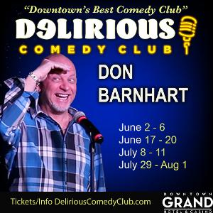 Don Barnhart Brings The Nightly Funny At Delirious Comedy Club In Las Vegas