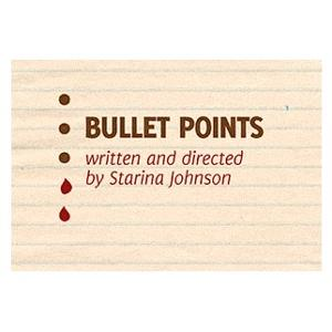 Towne Street Theatre Presents BULLET POINTS: A Spooky Zoom Play