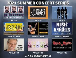 Tickets Now On Sale For 2021 Summer Concert Series at The John W. Engeman Theater at Northport