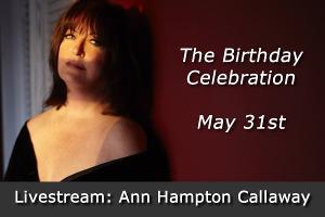 Ann Hampton Callaway to Livestream Birthday Celebration