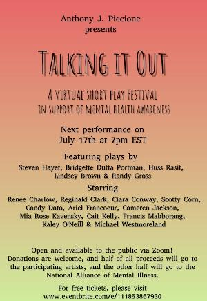 Third Performance Of The 2020-2021 Season Of The TALKING IT OUT Festival To Stream In July