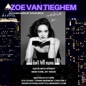 Zoë Van Tieghem Brings BORN AND RAISED Cabaret To Don't Tell Mama