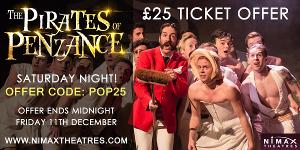 £25 Golden Tickets Released To Sasha Regan's All-Male THE PIRATES OF PENZANCE