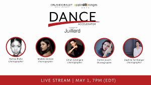 Second Dance Accelerator to be Presented by Orlando Ballet, Apples and Oranges and Juilliard