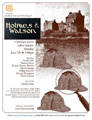 HOLMES & WATSON Will Be Performed By Theatre 40 on June 7
