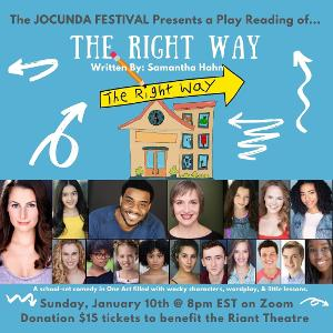 Rachel Zatcoff, Antoine L. Smith, Mary Illes, and More to Star in Samantha Hahn's Comedic Play THE RIGHT WAY as Part of the Jocunda Festival