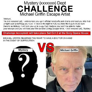Michael Griffin Escape Artist Coming To The Sorg Opera House