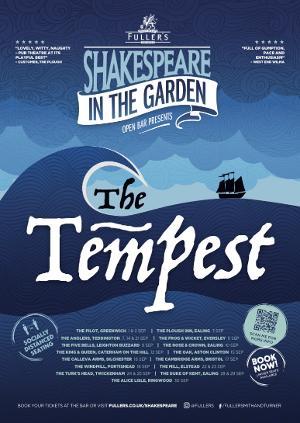 Open Bar Presents THE TEMPEST In Fuller's Pub Gardens
