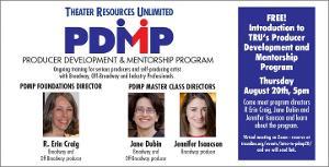 TRU Presents August Panel:  'Introduction To The TRU Producer Development & Mentorship Program'