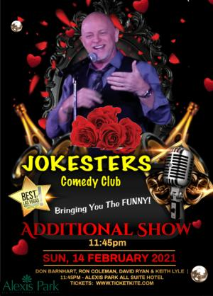 Jokesters Comedy Club Las Vegas Adds Additional Shows For Valentine's Day