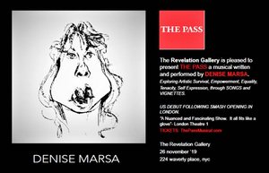 THE PASS, A Musical By Denise Marsa Will Come to Revelation Gallery in the West Village