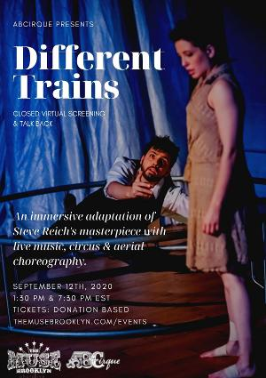 DIFFERENT TRAINS Announces Virtual Screening and Talk Back