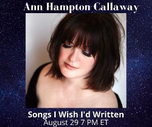 Ann Hampton Callaway to Present Live Stream This Sunday