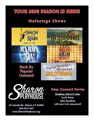 Sharon Playhouse Has Announced its 2020 Season