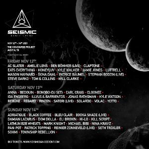Seismic Dance Event In Austin Announces Final Lineup, Shares Daily Artist Schedule & Releases Single Day Tickets