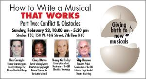 Theater Resources Unlimited Will Present Workshop 'How To Write A Musical That Works Part Two: Conflicts & Obstacles'