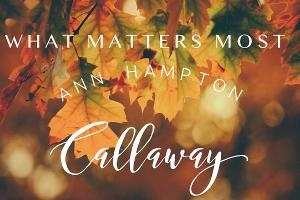 Ann Hampton Callaway Announces Live Stream, WHAT MATTERS MOST