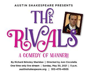 Live Zoom Reading Of THE RIVALS to be Presented by Austin Shakespeare
