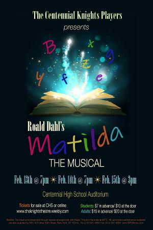 MATILDA THE MUSICAL Announced At Centennial High School