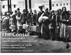Transgressive Theatre-Opera Hosts Benefit Concert For Immigrant Relief