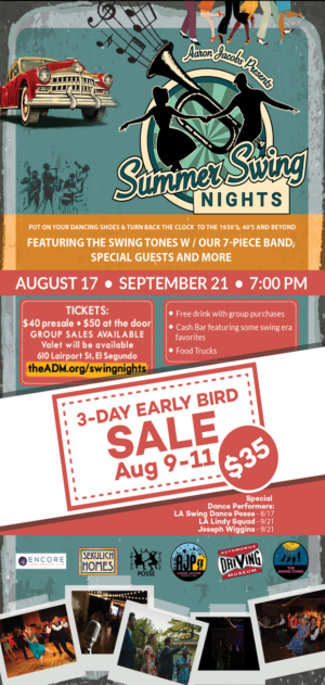 SUMMER SWING NIGHTS At The ADM Is Only One Week Away