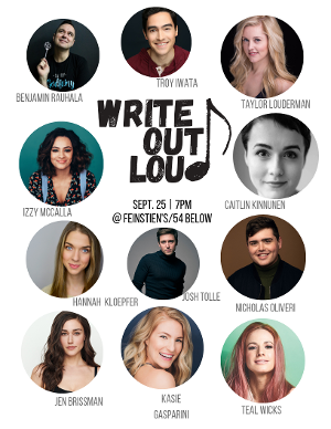 Taylor Louderman Presents WRITE OUT LOUD With Caitlin Kinnunen, Teal Wicks And More