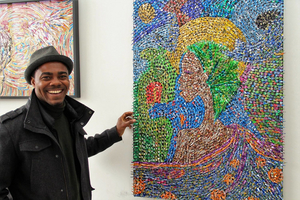 The Recycled Art Of Visiting Artist, Faustin Adeniran, On Display At The Firehouse Gallery