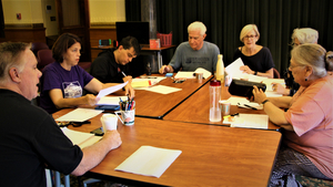 Cast Of Square One Theatre's Production Of ADMISSIONS Gathers For Table Read