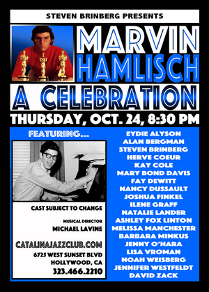 MARVIN HAMLISCH: A CELEBRATION Comes to Catalina Jazz Club