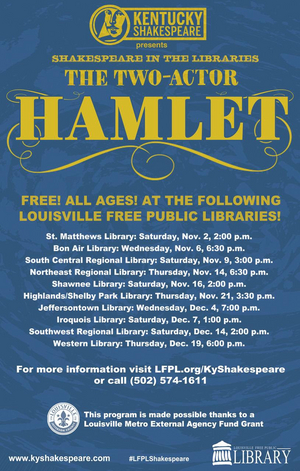 Kentucky Shakespeare and Louisville Free Public Library Partner To Bring Education Program Throughout Metro Area