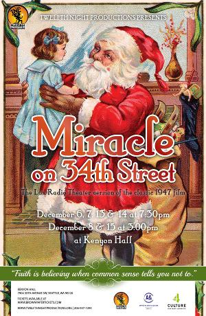 Twelfth Night Productions Will Present MIRACLE ON 34TH STREET: A LIVE RADIO PLAY