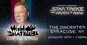 The Oncenter Crouse Hinds Theater Will Present An Evening With William Shatner: Screening The Wrath Of Khan