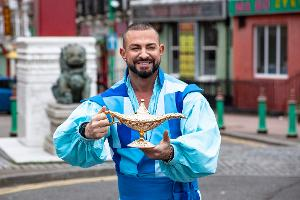 Robin Windsor Flies Into Liverpool's Chinatown For ALADDIN Panto Launch