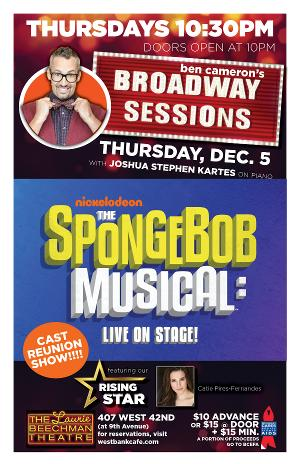 The Cast of THE SPONGEBOB MUSICAL Will Reunite At Broadway Sessions This Week