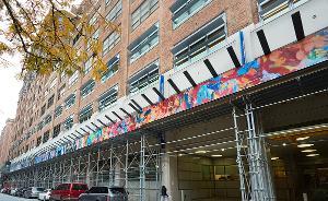 "ArtBridge's Latest Installation ""9 On 15"" Showcases Chelsea-based Artists On Google Building Sidewalk Sheds"